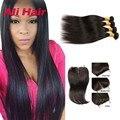 8a Peruvian Virgin Hair With Closure 4 Bundles Peruvian Virgin Hair Straight 4 Bundles Peruvian Straight Hair With Closure
