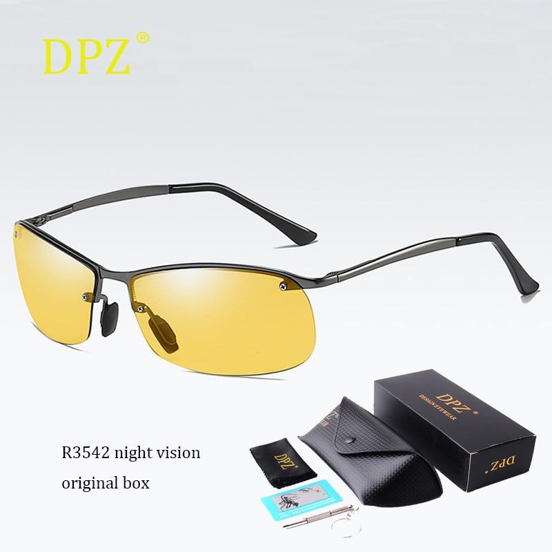 Fashion Style Sunglasses Men Night Vision Driving Sports Sun Glasses Women Vacation Luxury Brand Design Gafas De Sol Uv400 High Resilience Men's Sunglasses