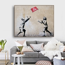 Children in Syria by Banksy Wall Art Decor Poster Print Canvas Painting Calligraphy Decorative Picture Living Room Home
