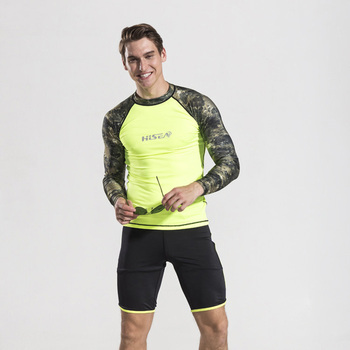9aabf385f9a5 2017 camisetas de verano para hombre de manga larga de LICRA para buceo  para natación Snorkeling camisetas de protección solar UV de playa para  hombre ...