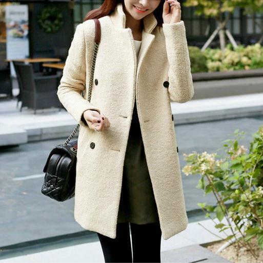 New 2017 women coat Women's Slim Double-breasted Woolen Coat Autumn Winter wool coat autumn and winter coat for women a new autumn winter coat for women