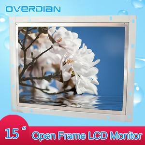 Image 5 - 15 pouces contrôle industriel Lcd moniteur VGA/TouchUSB/HDMI écran Interface cadre ouvert résistance écran tactile métal coque 1024*768