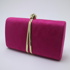 Image 3 - Nuphia Suede Evening Clutch Bags and Party Clutches Evening Bags for Women Yellow Royal Blue Orange Red Purple