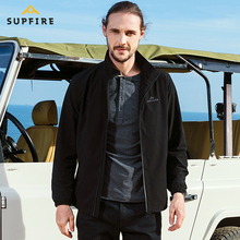 Supfire Hiking Jacket Men Camping Cycling Fishing Tactical Softshell Quick Dry Waterproof Windproof Male Sports Coat C033
