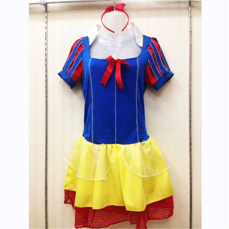 ... 2018 new Plus Size Adult Snow White Costume Fairy tale Clothes high  quality cosplay Dress Carnival b14d4fa092e5