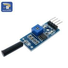 Normalmente Aberto Módulo Sensor de Vibração Módulo para Arduino Módulo de Alarme Sensor de Choque