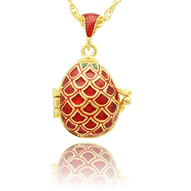 Aliexpress buy suitable for european luxury brands necklace suitable for european luxury brands necklace retro pattern pineapple russian egg pendant necklace easter gifts negle Images
