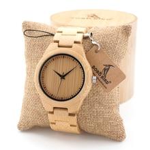 BOBO PÁJARO de Bambú Para Hombre Correa De Reloj De Madera con Madera Miyota Movimiento de Cuarzo Analógico con Calidad Tríptico Cierre