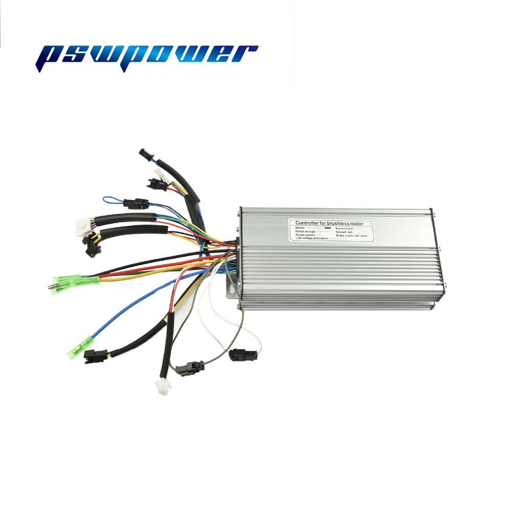 36V 48V 1000W 1500W Brushless DC Torque Simulation Square ebike Electric Bicycle Hub Motor Controller with