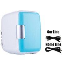 Dual Use 4L Home Car Use Refrigerators Mini Refrigerators Freezer Cooling Heating Box Cosmetic Fridge Makeup Refrigerators
