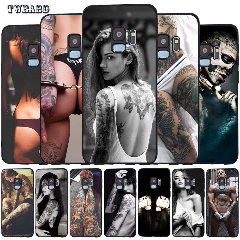 Sexy Tattoo Girl Case For Cover Samsung Galaxy S10 S9 S8 Plus S8 S6 S7 Edge S10 Lite Phone Etui Cases Covers coque
