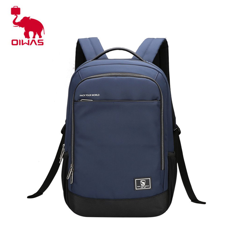 Oiwas 19.6L Laptop Business Backpack Lightweight Water-resistant Travalling Backpack Solid Color Two Colors for Male stylish solid color lightweight pleated scarf for women