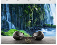 beibehang Classic personality decorative painting indoor stereo wallpaper cliff water waterfall bedroom background wall paper