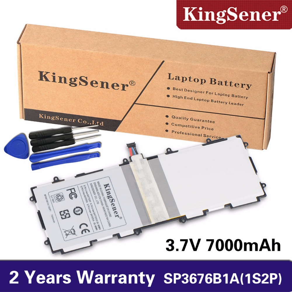 Kingsener Sp3676b1a (1s2p ) For Samsung Galaxy Note 10.1 Tab 2 P5100 P5110 P7500 P7510 N8000 N8010 N8013 Tablet Battery 7000mAh bluetooth keyboard for samsung galaxy note gt n8000 n8010 10 1 tablet pc wireless keyboard for tab a 9 7 sm t550 t555 p550 case