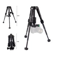 CAMBOFOTO Camera Tripod Portable Flexible With Quick Release Plate With Ball Head Angle Lock Rubber Foot Pad Panning Dial