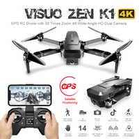 Visuo ZEN K1 Drone RC avec 4K HD Double Caméra Contrôle Gestuel 5G Wifi FPV Moteur Brushless Vol 28mins Dron VS F11 B4W SG906