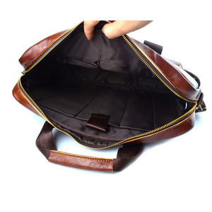 Image 4 - EUMOAN cuir véritable cuir véritable pochette dordinateur sacs à main peau de vache hommes sac à bandoulière hommes voyage marron mallette en cuir