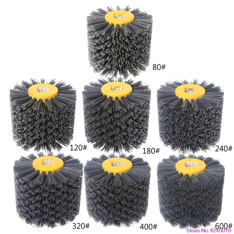 New Deburring Abrasive Wire Drawing Round Brush Head Polishing Grinding Buffer Wheel