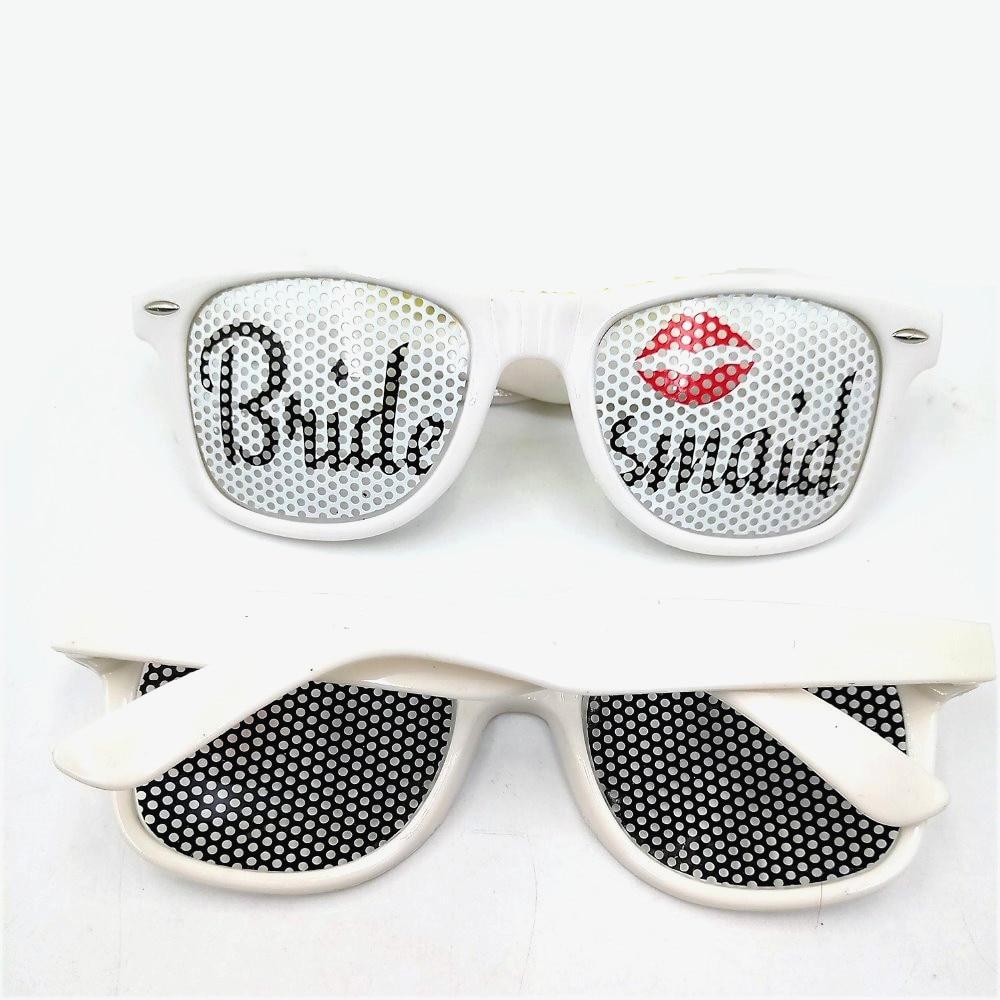 White Bride Sunglasses Bridal Bachelorette Party Favors Grooms Maid ...