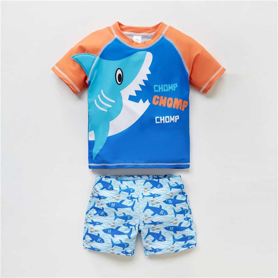 Kavkas 2019 Kids Boys Swimsuit Summer Boys Swimwear Cool Ocean Animal Printed Children Bathing Wear Beachwear Child Swimming