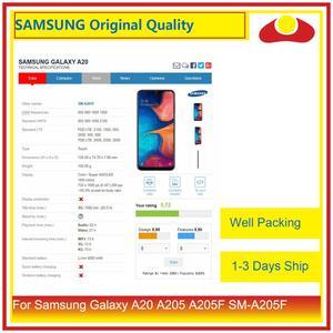 Image 2 - 10 pz/lotto DHL Per Samsung Galaxy A20 A205 A205F SM A205F Display LCD Con Pannello Touch Screen Digitizer Pantalla Completo