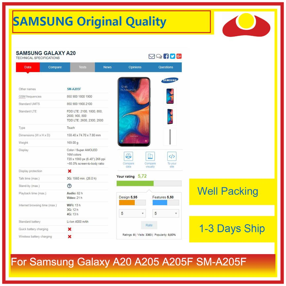 """Image 2 - Original 6.4"""" For Samsung Galaxy A20 A205 A205F SM A205F LCD Display With Touch Screen Digitizer Panel Pantalla Complete-in Mobile Phone LCD Screens from Cellphones & Telecommunications"""