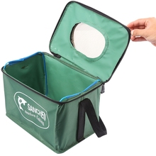 LEO Canvas Folding Bucket Multifunctional Collapsible Bucket  water bag For Fishing Camping Hiking Traveling 3 size