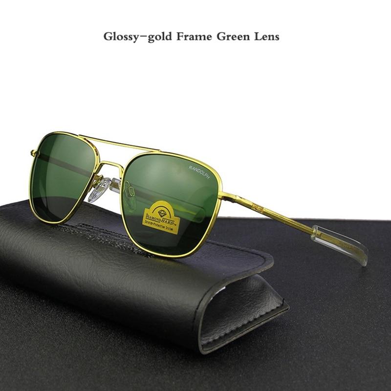 Glossy-gold Frame Green Lens