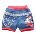 New 2016 Summer Fashion Girlshello kitty Mickey  Short Jeans Pants Baby Casual Trousers Kids Shorts Children's Clothing