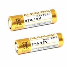 2 шт. 27A 12V сухая щелочная батарея 27AE 27MN A27 для дверного звонка, автосигнализации, музыкальными плеерами, автомобильный пульт дистанционного управления и т. д