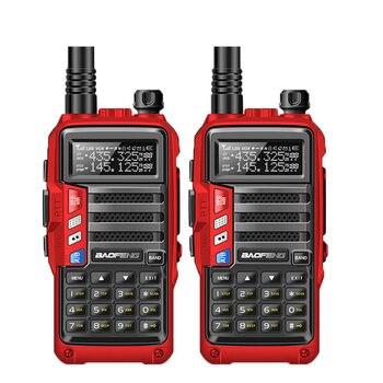 2 قطعة BaoFeng UV-S9 8w قوية اسلكية تخاطب CB جهاز الإرسال والاستقبال اللاسلكي 8 واط 10 كجم طويلة المدى راديو محمول مجموعة ل الصيد السفر