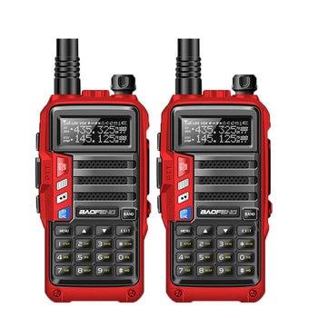 2 uds BaoFeng UV-S9 8w potente Walkie Talkie CB Radio transceptor 8 vatios 10km de largo alcance conjunto de Radio portátil para viaje de caza