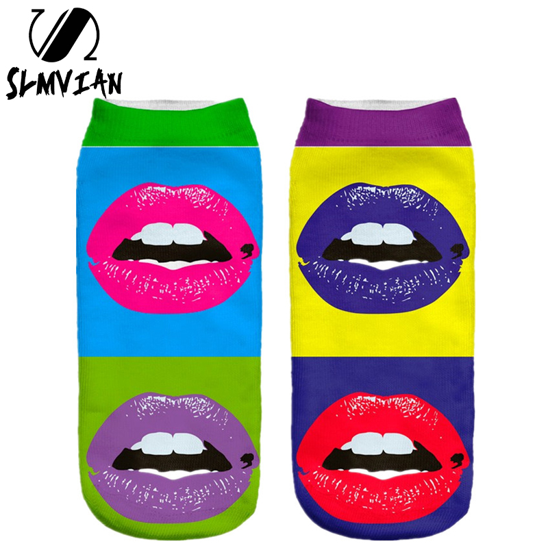 SLMVIAN  Color New 3D Printing Lady Casual Funny Shape Women Clothing Woman Socks Unisex Cute Low Cut Ankle Sock Multiple Colors