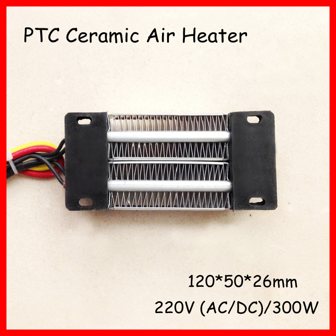 PTC ceramic air heater Electric heater 300W 220V AC DC Insulated 120*50mm free shipping 3 pc ac 220v 150w 150 watt stainless steel electric band heater 50mm x 30mm customized