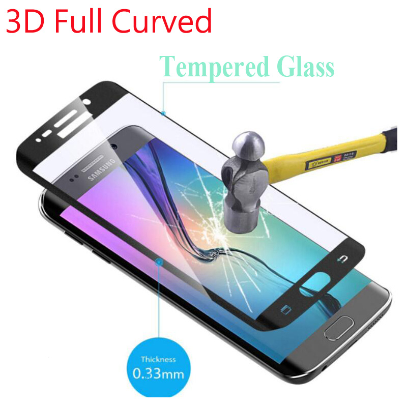 """9H Full Cover 3D <font><b>Curved</b></font> Tempered Glass <font><b>For</b></font> <font><b>Samsung</b></font> <font><b>Galaxy</b></font> S6 <font><b>Edge</b></font> S6 <font><b>Edge</b></font> Plus + 5.1"""" 5.7"""" Screen Protector Color Film"""