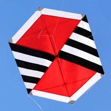 Новое поступление спорт на открытом воздухе шестиугольник нейлон углерода R воздушный змей/ромбовидные воздушные змеи для детей подарок с ручкой и линией хороший Летающий