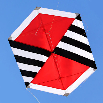 New Arrive Outdoor Sport Hexagon Nylon Carbon R Kite / Diamond Kites For Children Gift With Handle And Line Good Flying