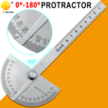 Cabezal redondo de acero inoxidable, buscador del ángulo del transportador de 180 grados, Regla de medición giratoria, herramienta maquinilla, regla de artesano de 10cm