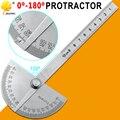 Вращающийся измерительный машинист, транспортир с круглой головкой из нержавеющей стали на 180 градусов, Инструмент Линейка 10 см