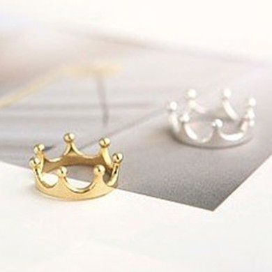 15mm size Fashion Little Finger ring Crown ring jewellery 2 color J1359
