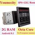 Youmecity 10 дюймов экран Восьмиядерный 2 din android 8,1 Универсальный Автомобильный Радио двойной DVD gps навигация в тире ПК стерео видео wifi