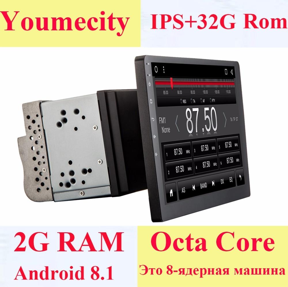 Youmecity 10 polegada tela Octa núcleo 2 Rádio Do Carro Duplo din android 8.1 universal DVD GPS In dash Navigation PC vídeo estéreo wi-fi