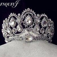 Vintage Tiaras Rhinestone Crystal Crowns Wedding Hair Accessories Gold Plated Bridal Bridal Jewelry 2016 Head Wear