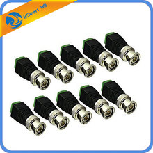 10PCS Coax CAT5 To CCTV Coaxial Camera BNC Male Video Balun Connector For mini Sony ccd camera dvr kits