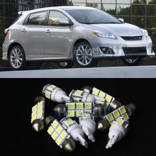 Бесплатная Доставка! #10 7x белый светодиодные фонари Интерьер Вышивка Крестом Пакет комплект для Toyota Matrix 2003-2008 просто plug & play