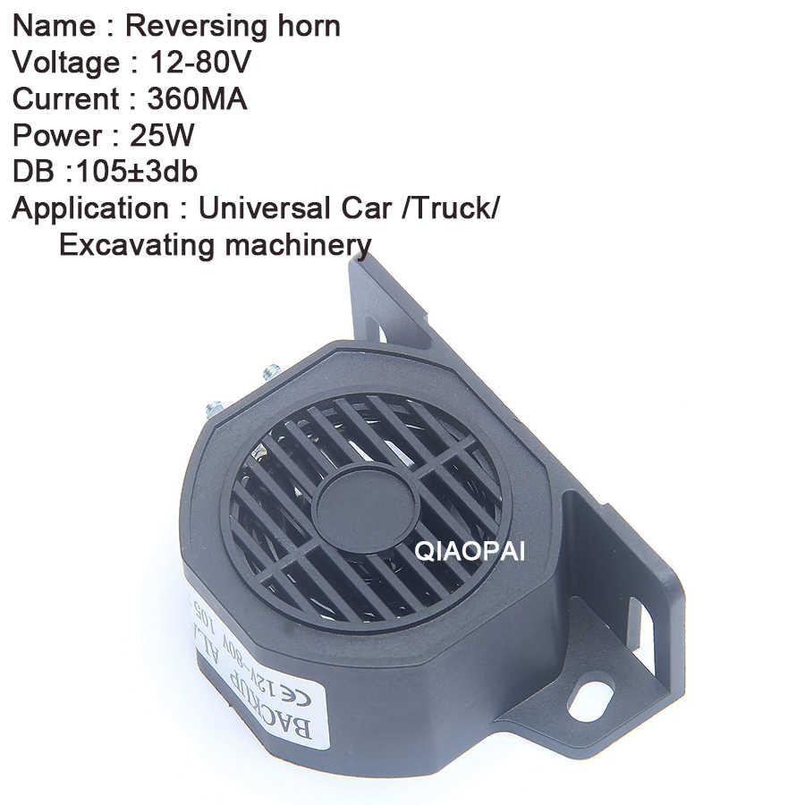 Baik Kualitas Backup Reverse Alarm Horn Tahan Air Lebih Aman Reversing Alarm 12-80 V 105DB Stabil Speaker CE Truk Trailer bagian Bus