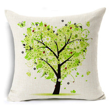 Colorful Trees Patterned Pillow for Home Decor