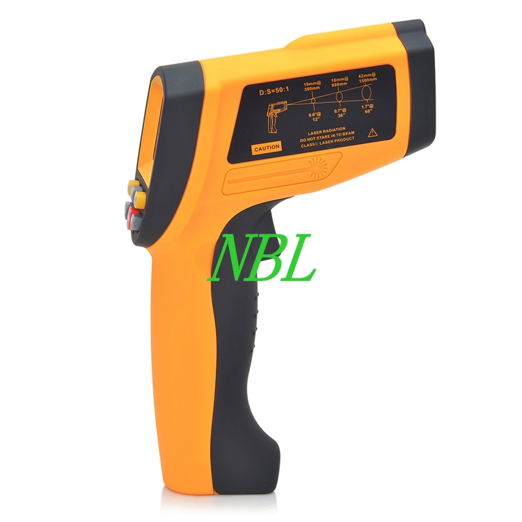 Non-Contact Digital Infrared Thermometer 50:1 LCD Laser Temperature Gun Tester Range -30~1650 Degree With USB Interface digital infrared ir thermometer laser temperature gun non contact 50 1 with lcd backlight gm1350 18 1350c 50 1