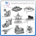 Piece Fun 3D Laser Cut DIY Assembly Models Metal Puzzle Lunar Lander UFO Drum Piano T-34 Tiger tank Adult kids educational toy