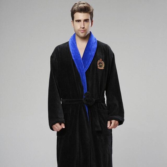 XMS Winter thickening Men bathrobe plus size Pajamas Pyjamas towel ...